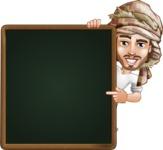 Desert Man Cartoon Vector Character AKA Sabih - Presentation 2