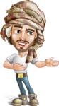 Desert Man Cartoon Vector Character AKA Sabih - Show 2