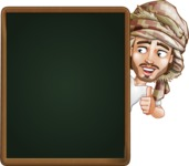 Desert Man Cartoon Vector Character AKA Sabih - Presentation 3