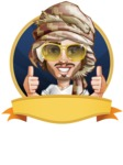 Desert Man Cartoon Vector Character AKA Sabih - Shape 4