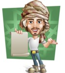 Desert Man Cartoon Vector Character AKA Sabih - Shape 7