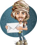 Desert Man Cartoon Vector Character AKA Sabih - Shape 8