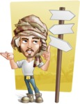 Desert Man Cartoon Vector Character AKA Sabih - Shape 10