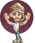 Desert Man Cartoon Vector Character AKA Sabih - Shape 11
