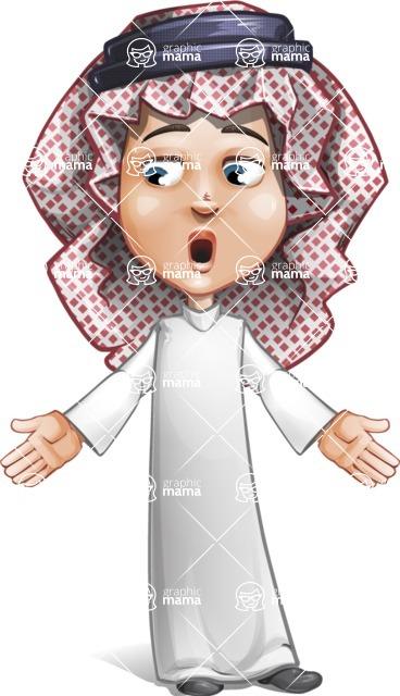 Cute Muslim Kid Cartoon Vector Character AKA Ayman - Lost