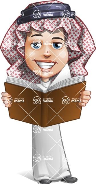 Cute Muslim Kid Cartoon Vector Character AKA Ayman - Book 2