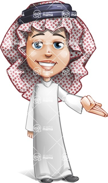 Cute Muslim Kid Cartoon Vector Character AKA Ayman - Showcase