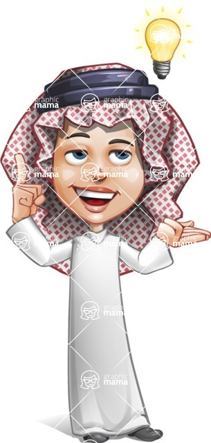 Cute Muslim Kid Cartoon Vector Character AKA Ayman - Idea