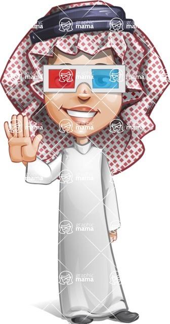 Cute Muslim Kid Cartoon Vector Character AKA Ayman - 3D