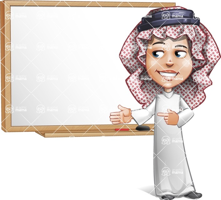 Cute Muslim Kid Cartoon Vector Character AKA Ayman - Presentation 1