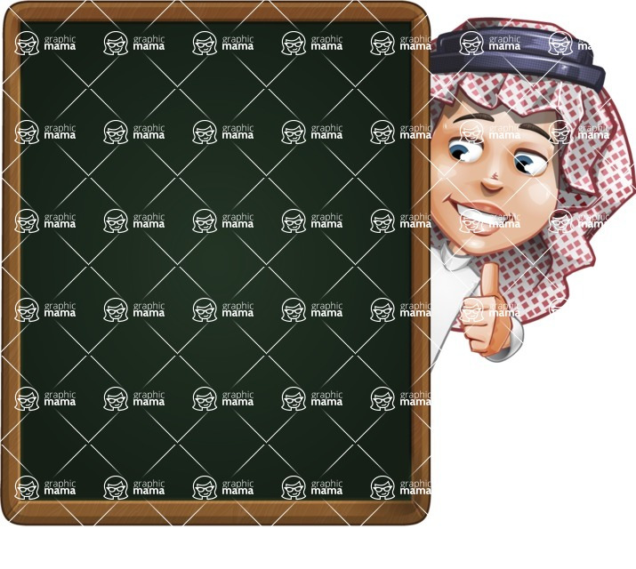 Cute Muslim Kid Cartoon Vector Character AKA Ayman - Presentation 3