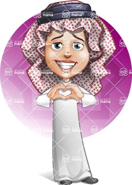 Cute Muslim Kid Cartoon Vector Character AKA Ayman - Shape 5