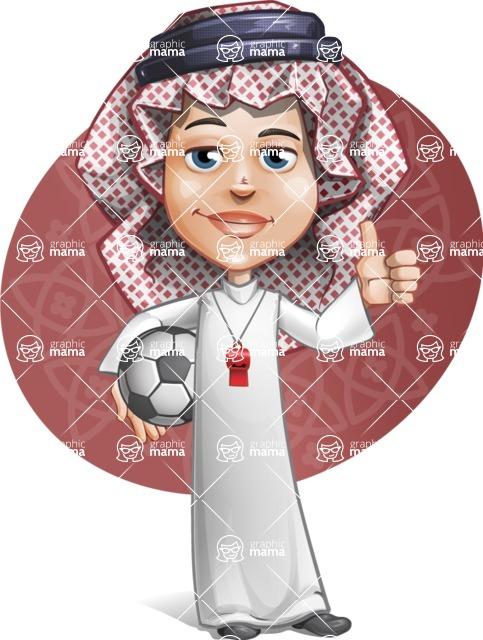 Cute Muslim Kid Cartoon Vector Character AKA Ayman - Shape 8