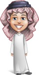 Cute Muslim Kid Cartoon Vector Character AKA Ayman - Normal