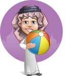 Cute Muslim Kid Cartoon Vector Character AKA Ayman - Shape 11