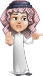 Cute Muslim Kid Cartoon Vector Character AKA Ayman - Direct Attention 2
