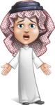 Cute Muslim Kid Cartoon Vector Character AKA Ayman - Stunned