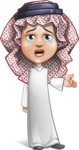 Cute Muslim Kid Cartoon Vector Character AKA Ayman - Sad 2