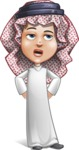 Cute Muslim Kid Cartoon Vector Character AKA Ayman - Roll Eyes