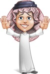 Cute Muslim Kid Cartoon Vector Character AKA Ayman - Hello