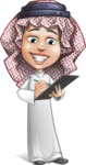 Cute Muslim Kid Cartoon Vector Character AKA Ayman - Note