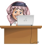Cute Muslim Kid Cartoon Vector Character AKA Ayman - Laptop 4