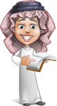 Cute Muslim Kid Cartoon Vector Character AKA Ayman - Book 1
