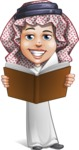 Cute Muslim Kid Cartoon Vector Character AKA Ayman - Book 2