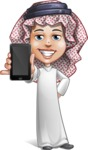 Cute Muslim Kid Cartoon Vector Character AKA Ayman - iPhone