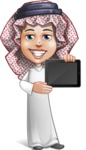 Cute Muslim Kid Cartoon Vector Character AKA Ayman - iPad 2