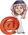 Cute Muslim Kid Cartoon Vector Character AKA Ayman - Web