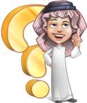 Cute Muslim Kid Cartoon Vector Character AKA Ayman - Question