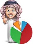 Cute Muslim Kid Cartoon Vector Character AKA Ayman - Chart