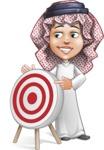 Cute Muslim Kid Cartoon Vector Character AKA Ayman - Target