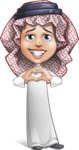 Cute Muslim Kid Cartoon Vector Character AKA Ayman - Show Love