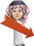 Cute Muslim Kid Cartoon Vector Character AKA Ayman - Arrow 3