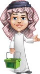 Cute Muslim Kid Cartoon Vector Character AKA Ayman - Basket