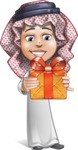 Cute Muslim Kid Cartoon Vector Character AKA Ayman - Gift
