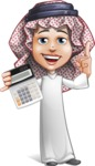 Cute Muslim Kid Cartoon Vector Character AKA Ayman - Calculate