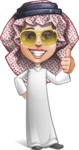 Cute Muslim Kid Cartoon Vector Character AKA Ayman - Sunglasses
