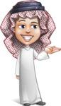 Cute Muslim Kid Cartoon Vector Character AKA Ayman - Showcase 2