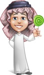 Cute Muslim Kid Cartoon Vector Character AKA Ayman - Candy