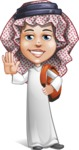 Cute Muslim Kid Cartoon Vector Character AKA Ayman - School 2