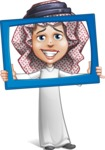 Cute Muslim Kid Cartoon Vector Character AKA Ayman - Frame