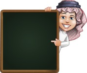 Cute Muslim Kid Cartoon Vector Character AKA Ayman - Presentation 2