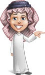 Cute Muslim Kid Cartoon Vector Character AKA Ayman - Point