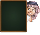 Cute Muslim Kid Cartoon Vector Character AKA Ayman - Presentation 3