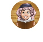 Cute Muslim Kid Cartoon Vector Character AKA Ayman - Shape 4