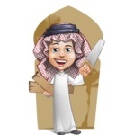 Cute Muslim Kid Cartoon Vector Character AKA Ayman - Shape 6