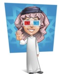 Cute Muslim Kid Cartoon Vector Character AKA Ayman - Shape 7
